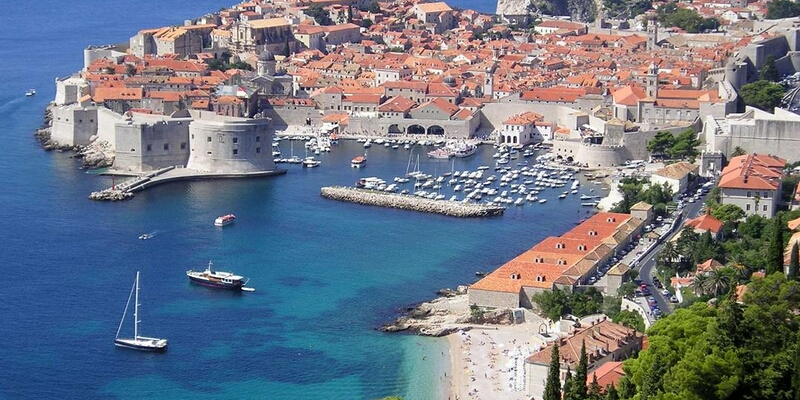 Dubrovnik is an important historical Croatian tourist destination, located on the UNESCO World Heritage list.